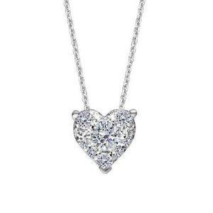 Jewelry - Heart Shape 1.25 Carats Diamond Pendant Necklace